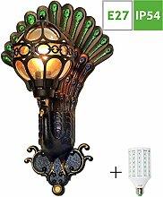 Rustikale Außenlampe, Vintage Außenleuchte mit &