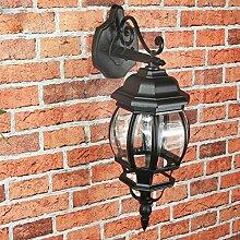 Rustikale Außenlampe Wandleuchte Brest in schwarz