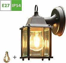 Rustikale Aussenleuchte Wand, Vintage Aussenlampe,