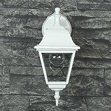 """Rustikale Außenleuchte Wandlampe """"Tirol"""" in weiß-grau / IP44 E27 60W 230V / Wandleuchte für Außen Hof Garten"""