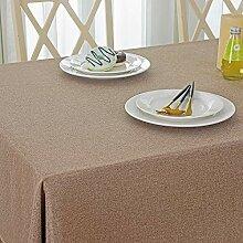 Rustikale braune rechteckige Tischdecke –