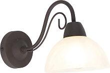 Rustikale braune Wandlampe mit Glas - Dallas