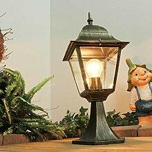 Rustikale Gartenlampe Antik Gold wetterfest E27