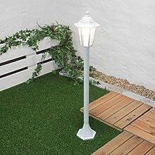 Rustikale Gartenlaterne Wegleuchte Weiß E27 IP44