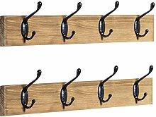 Rustikale Wandgarderobe, 2 Stück, Holzgarderobe
