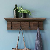 Rustikale Wandgarderobe aus Recyclingholz 70 cm