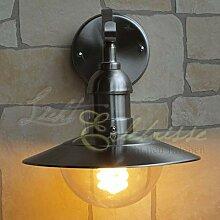 Rustikale Wandlampe in Silber IP44 Edelstahl