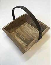 Rustikaler Deko-Korb mit Henkel