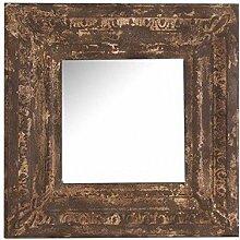 Rustikaler Spiegel quadratisch Eisen Antik.