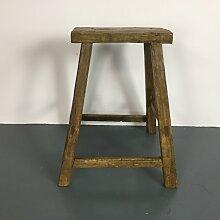 Rustikaler Vintage Holzhocker