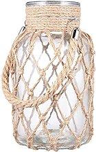 Rustikales hängendes Glas Seilvase einzigartige