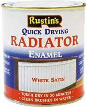 Rustins Radiator Enamel - Satin 500ml