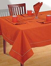 Rusty Orange Tischwäsche Set; 1 Tischdecke-Platz; 4 Servietten Und 1 Läufer; Frühlings-Dekorationen Für Haus