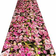 Rutschfest Teppich Läufer Für Den Flur,3d Rosa