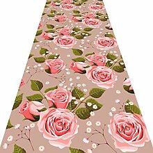 Rutschfest Teppich Läufer Für Den Flur,3d Rose
