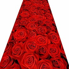 Rutschfest Teppich Läufer Für Den Flur,3d Rote