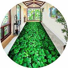 Rutschfest Teppich Läufer Für Den Flur, Grün