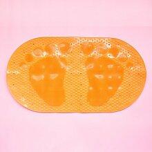 Rutschfeste Badematte Badewanne Dusche Sanitär matten Kunststoff Saugnapf Matte Massage Matte 70*38cm Orange