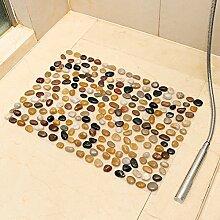 Rutschfeste Badematte dusche wc Sanitär Badezimmer rutschfeste Matten -50cm*80cm bun