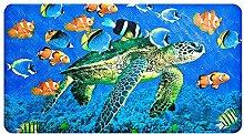 Rutschfeste Badewannenmatte - Yolife Premium Quadratische Rutschfeste Duschmatte, Coole Rutschfeste Badezimmerboden Badematte (Meeresschildkrötenmuster)