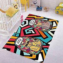 rutschfeste Cartoon Anime Teppich Schlafzimmer