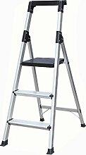 Rutschfeste drei Schritte Ladder Hocker Falten 3-Stufen-Haushalt Pavillon Pedale Fischgräten Dual-Verwendung Indoor