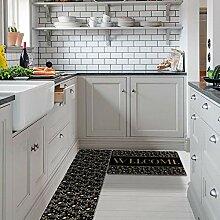 Rutschfeste Küchenteppich mit Gummiunterseite,