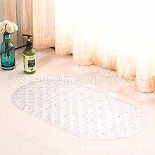 Rutschfeste Matte Badezimmer Dusche Badewanne massage rutschfeste Füße WC mit Matten , klar weiss, 38cm*69cm