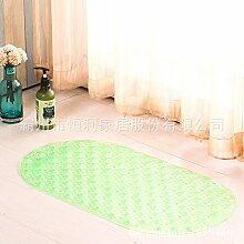 Rutschfeste Matte Badezimmer Dusche Badewanne massage rutschfeste Füße WC mit Matten, die grün, 38cm*69cm