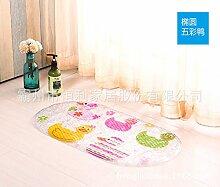 Rutschfeste Matte Badezimmer Dusche Badewanne massage rutschfeste Füße WC mit Matten , 5 farbige oval, 38cm*69cm Ente