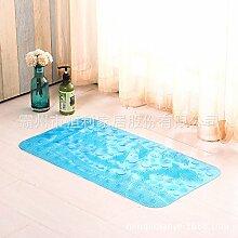 Rutschfeste Matte Badezimmer Dusche Badewanne WC Fuß Fußmatte mit Badewanne, WC, Kunststoff Pedalauflage , Tür mat Dolphin, 33cm*65cm blau