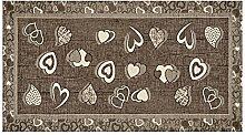 Rutschfeste Matte für Küche Chenille Typ Lovely by Suardi 55 x 240 cm Schiefer