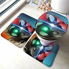 rutschfeste Spiderman-Badezimmermatte, 3-teiliges