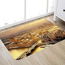 Rutschfester Badteppich aus Mikrofaser Stadtbild