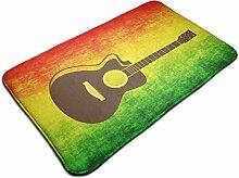 Rutschfester Gitarrenteppich Traditioneller bunter
