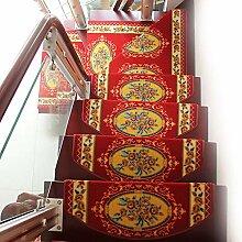 Rutschfester Roter Treppen-Teppich, Halbrunder