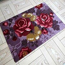 Rutschfester Teppich Wasseraufnahme Küche Bad Tür Türmatten Umweltschutz Matten ( farbe : #5 , größe : 50*80cm )