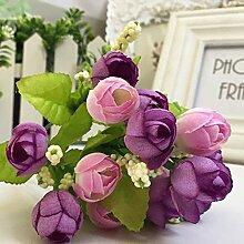 RWINDG 15 Köpfe Künstliche Rose Seide