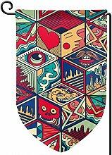 Rxi9s bunte abstrakte sechseckige Fliese, für den