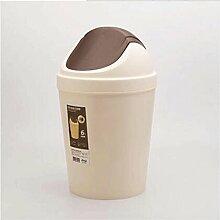 RXL-Mülleimer Haushalt Küche mit Abfalleimer abgedeckt Kreatives WC Wohnzimmer Schütteln Abdeckung Müll mit Kunststoff Abfalldosen (Farbe : 1, größe : 6L)