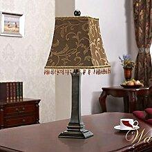 RXL Tischlampe Schlafzimmer Nachttischlampe Europäische Tischlampe Garten Einfache Tischlampe Dekoration-Lampe