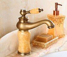 RY-Alle Kupfer antik Waschbecken Wasserhahn warmes und kaltes kontinentales Retro, Wong Yuk Tippen)