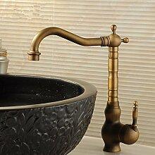 RY-Antike alle Kupfer retro mixer Waschbecken mit warmen und kaltem Leitungswasser