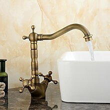 RY-Continental - Kupfer antik retro Sitzbank Waschbecken Waschbecken Wasserhahn