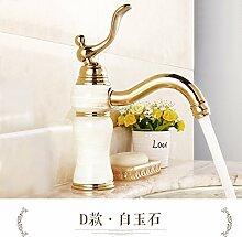 RY-Tippen Sie auf Waschbecken warmes und kaltes kontinentales Sitzbank Waschbecken wasserhahn Cu alle D Der baiyu