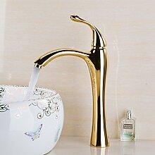 RY-Vergoldete warm/kaltes Wasser Waschbecken Badezimmer