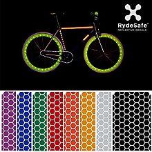 RydeSafe Hexagon Kit Large (rot) - Reflektierende Aufkleber fürs Fahrrad