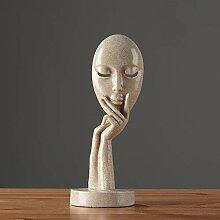 RYDX Denker Harz Skulptur,Moderne Nordic-Stil