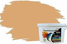 RyFo Colors Bunte Wandfarbe Manufakturweiß Amaretto 10l - weitere Braun Farbtöne und Größen erhältlich, Deckkraft Klasse 1, Nassabrieb Klasse 1