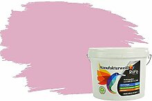 RyFo Colors Bunte Wandfarbe Manufakturweiß Babyrosa 3l - weitere Violett Farbtöne und Größen erhältlich, Deckkraft Klasse 1, Nassabrieb Klasse 1